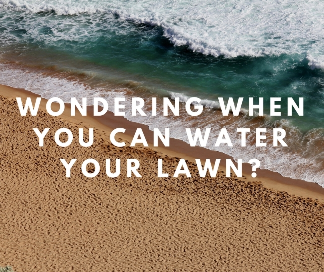 Wondering when youcan water your lawn-